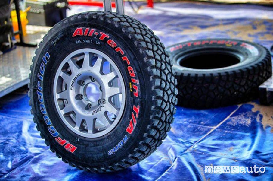 Pneumatici per la Dakar, misure caratteristiche