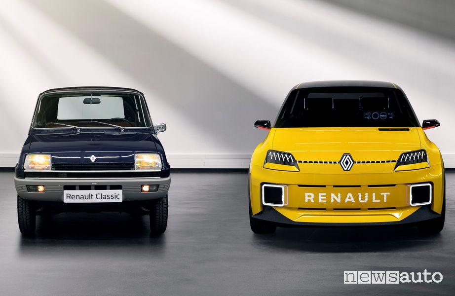 Renault 5 storica e la sua erede elettrica
