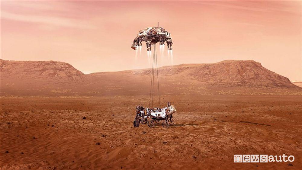 L'arrivo del rover della Nasa su Marte
