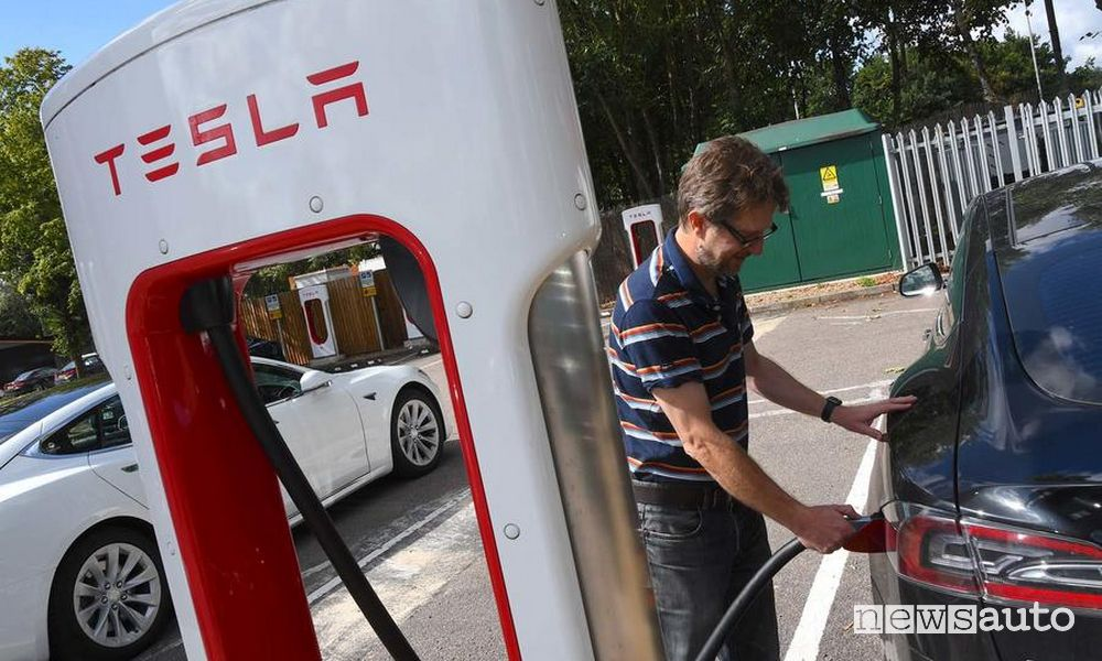 Nuovi Supercharger Tesla in Italia
