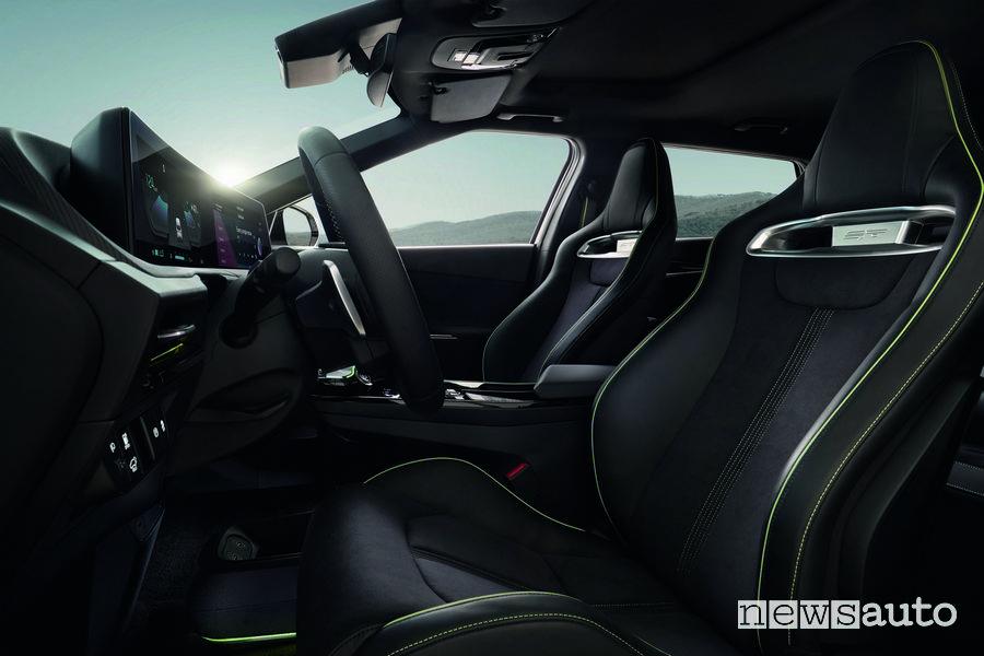 Sedili anteriori abitacolo Kia EV6 GT elettrica