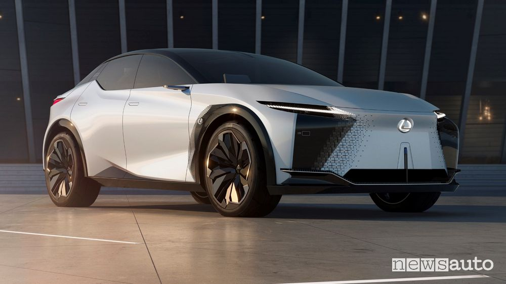 Vista di profilo Lexus concept LF-Z Electrified
