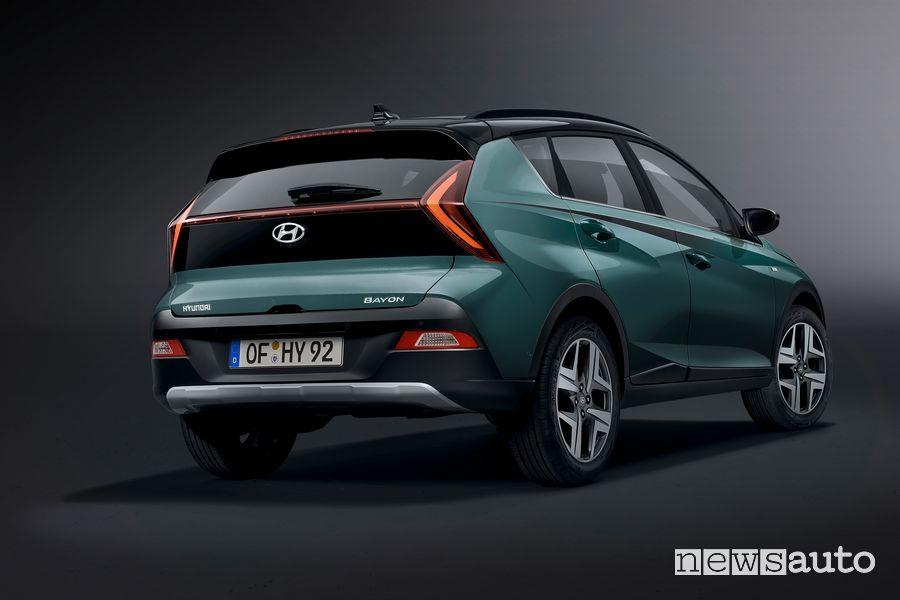 Vista posteriore nuova Hyundai Bayon