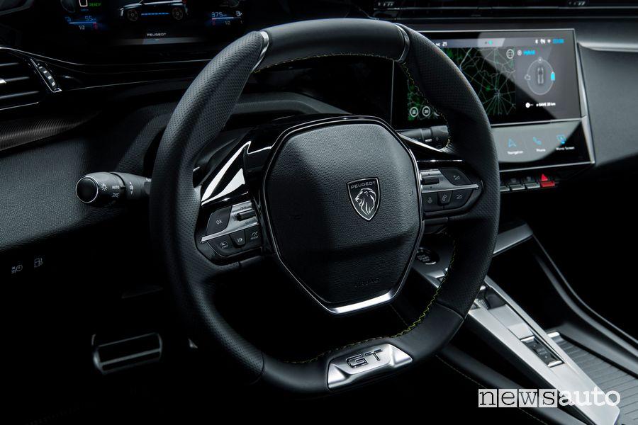 Volante abitacolo nuova Peugeot 308 ibrida plug-in PHEV