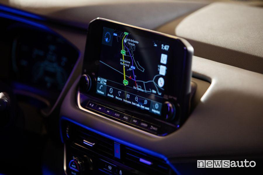 Navigatore infotainment abitacolo nuovo Nissan Qashqai