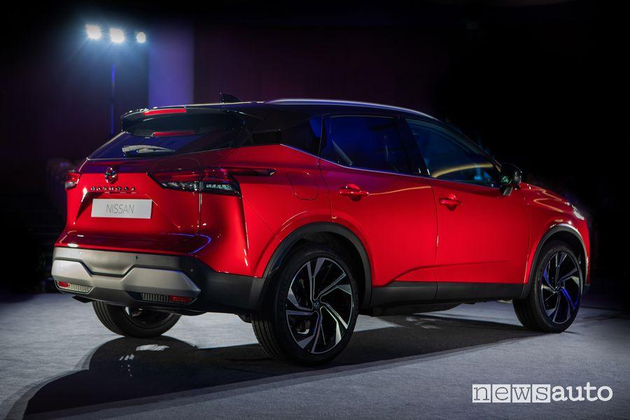 Vista posteriore nuovo Nissan Qashqai