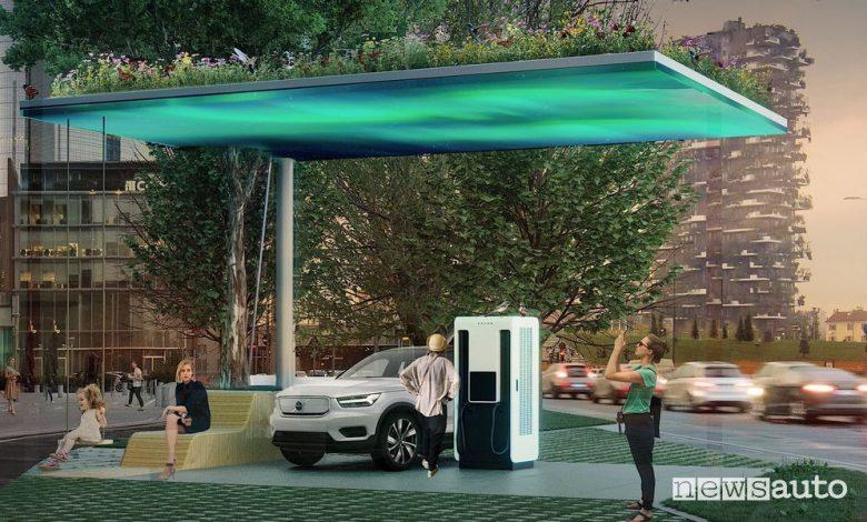Stazioni di ricarica rapida nelle concessionarie Volvo ed in autostrada a 175 kW