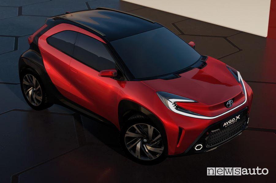 Tetto bicolore Toyota Aygo X prologue concept