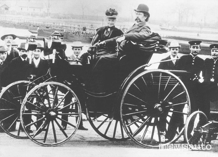Karl e Bertha Benz nel 1894 è una pilota donna