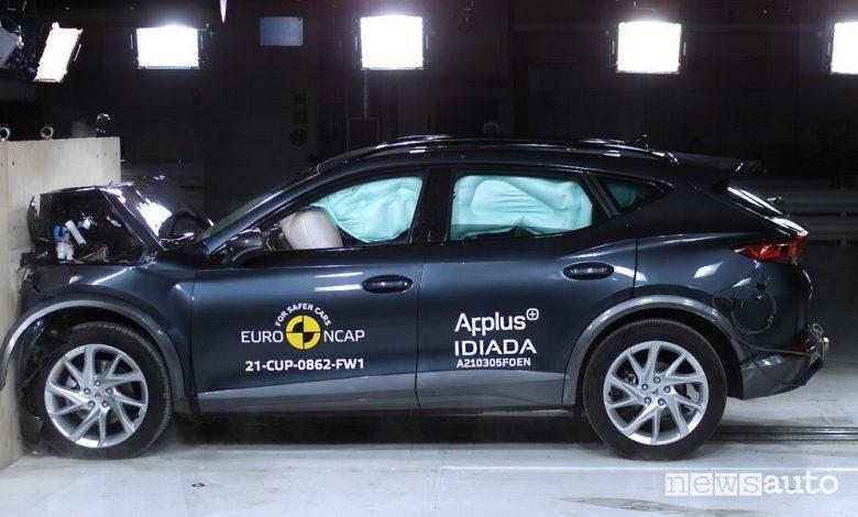 Crash test Euro NCAP Polestar 2 e Cupra Formentor