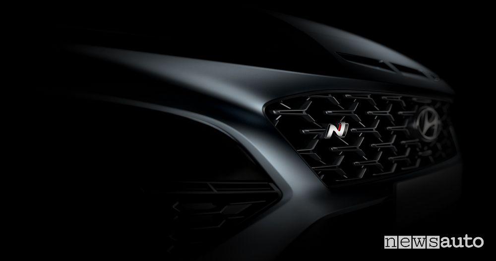 Griglia anteriore nuova Hyundai Kona N