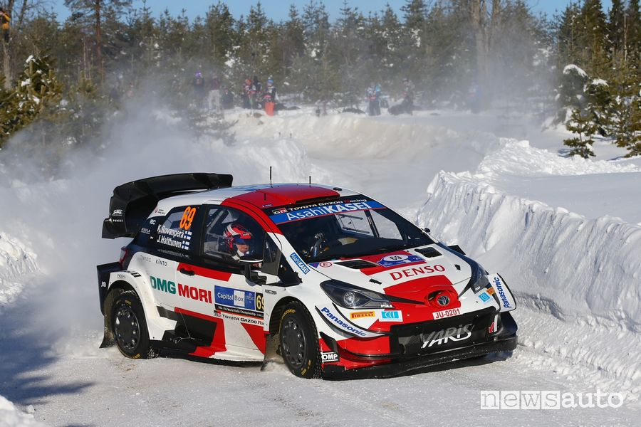 WRC Rally Artic Finlandia 2021 Toyota Kalle Rovanperä