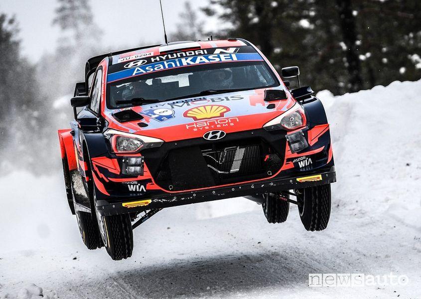 WRC Rally Artic Finlandia 2021 Hyundai Ott Tanak