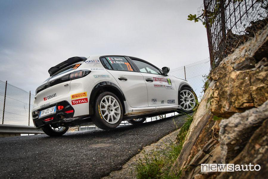 Andrea e Giuseppe Nucita con le Peugeot 208 Rally 4 nel Rally di Sanremo 2021