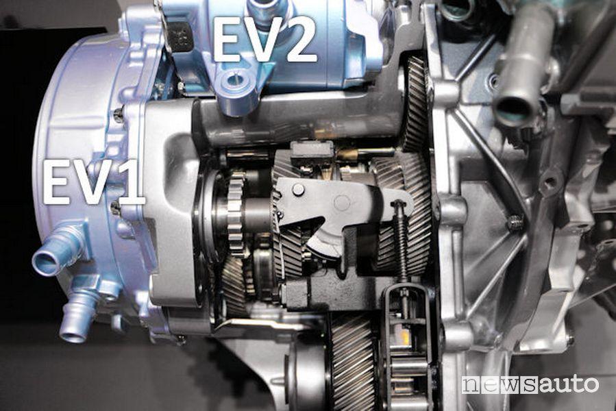 Cambio Renault e-tech ingranaggi ad innesti frontali