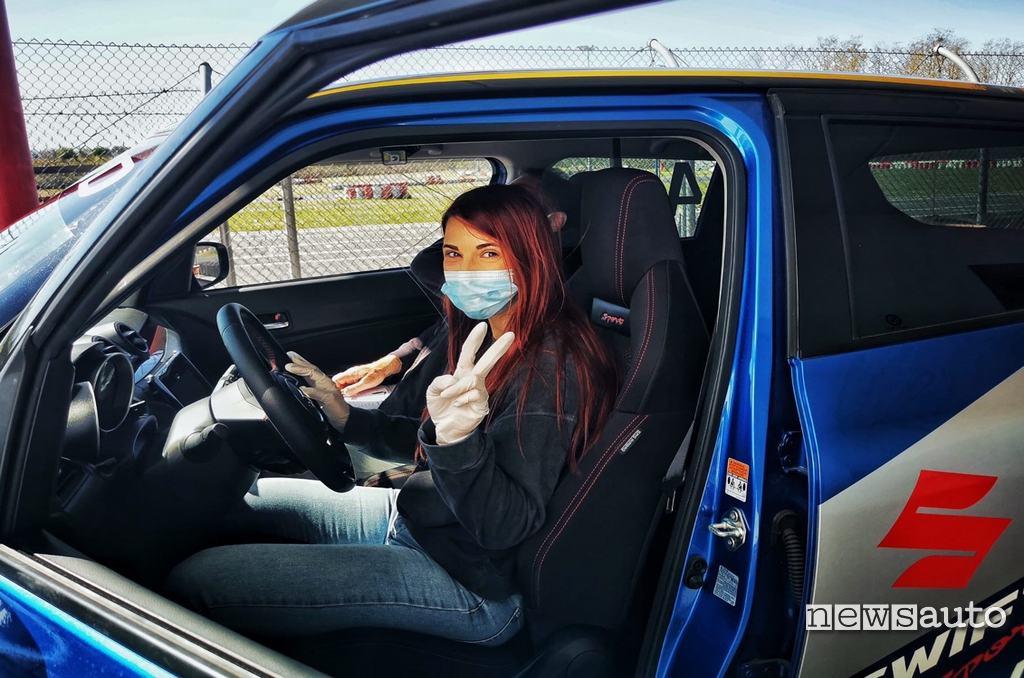 Carlotta Mancini prova la Suzuki Swift Sport Hybrid al Rally Italia Talent 2021
