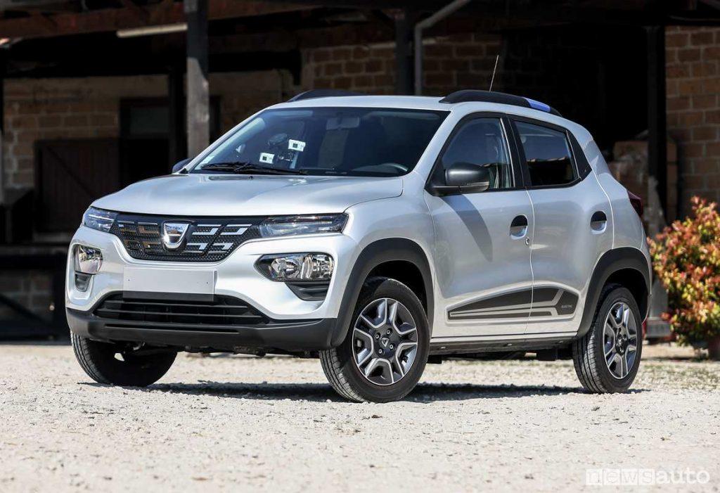 Dacia Spritg auto elettrica low cost più venduta in Italia a settembre