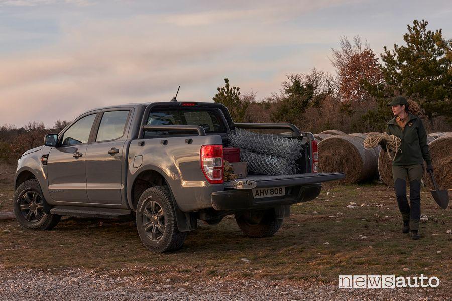 Ford Ranger Wolftrak a pieno carico