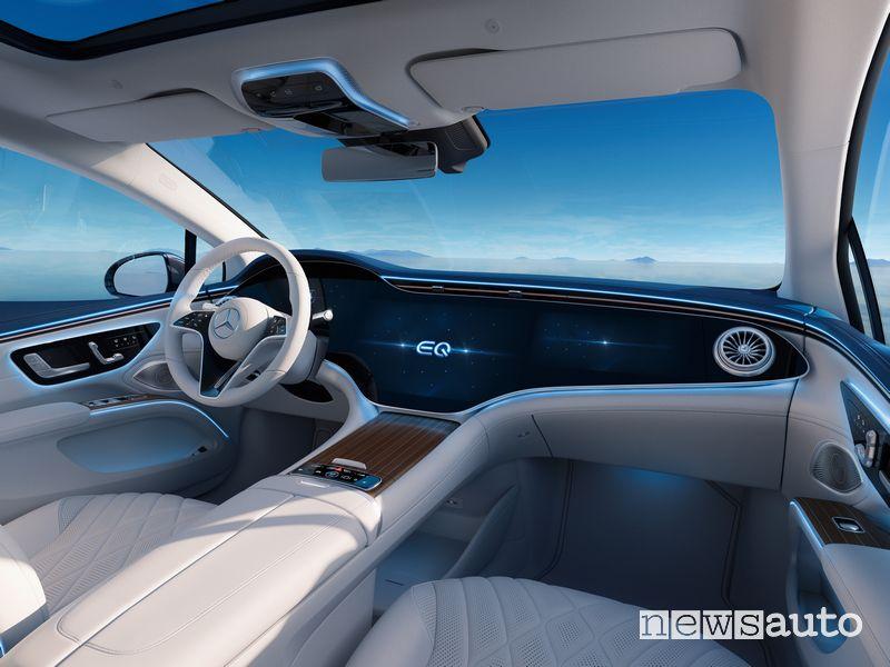 Plancia strumenti abitacolo Mercedes-EQ EQS elettrica