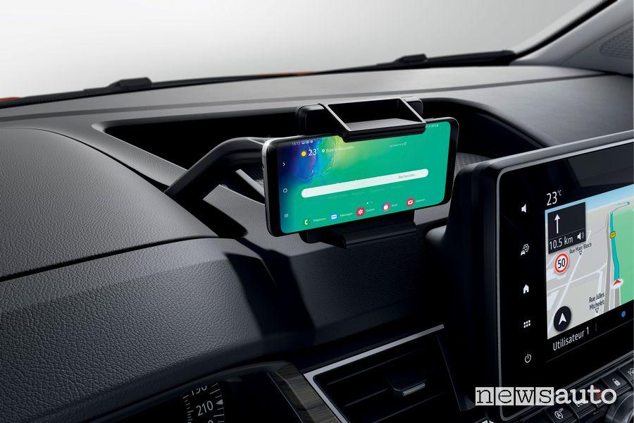 Supporto smartphone abitacolo nuovo Renault Kangoo