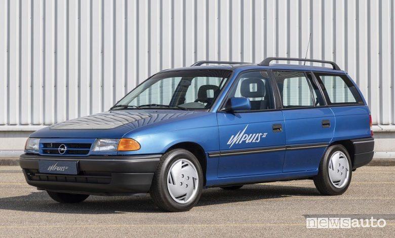 Vista di profilo prototipo Opel Impuls 2 del 1991
