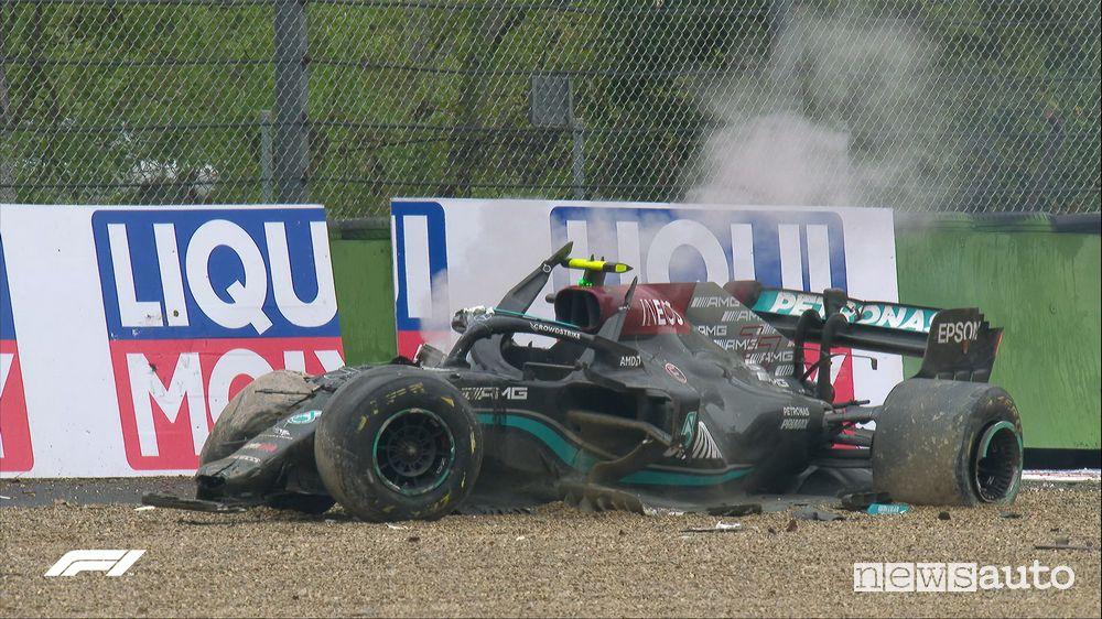 F1 Gp Imola Emilia Romagna Mercedes incidente bottas