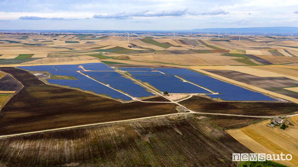 Parco fotovoltaico di Troia a Foggia il più grande d'Italia.