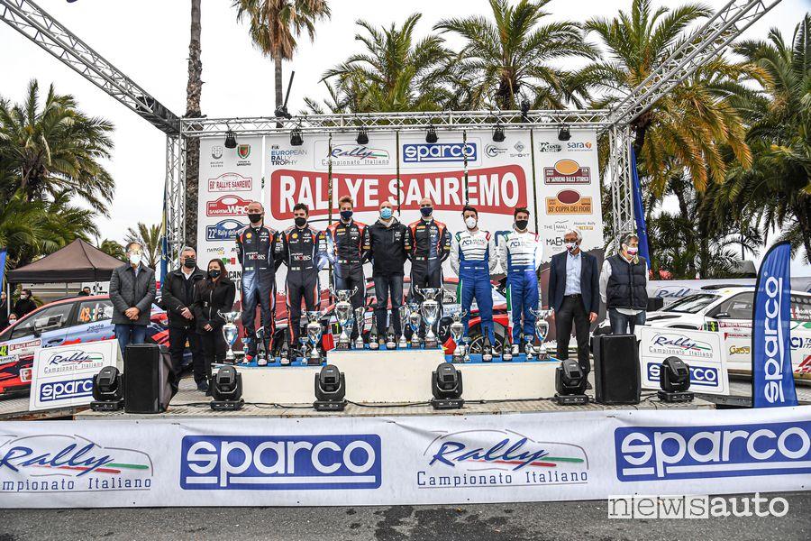 Podio finale Rally di Sanremo 2021