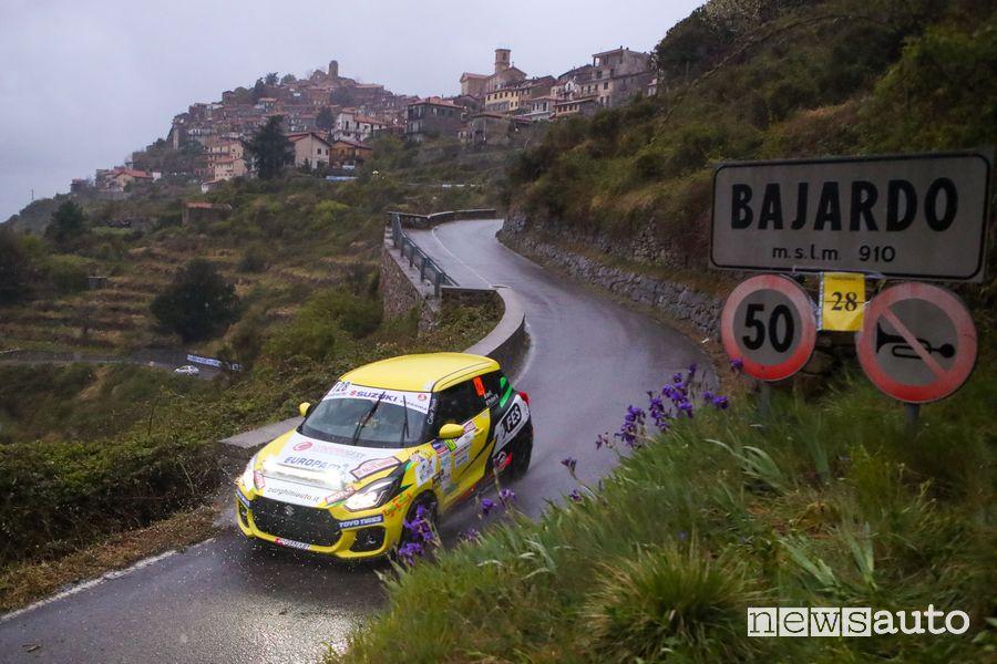 Simone Goldoni Suzuki Swift Sport Hybrid R1 al Rally di Sanremo 2021