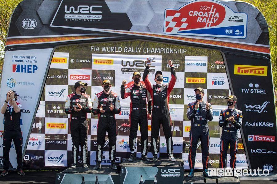 WRC podio Rally Croazia 2021