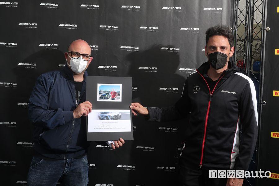 Attestato di partecipazione di Marco Savo all'AMG Driving Academy
