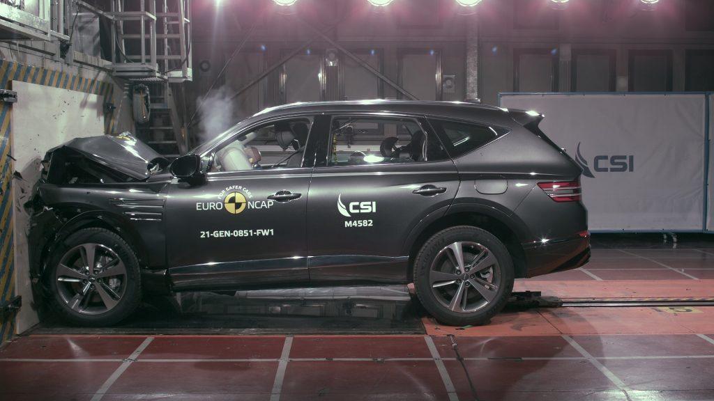 Punteggio massimo 5 stelle nei test Euro NCAP per il SUV Genesis GV80