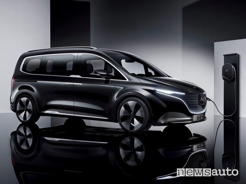 Mercedes-EQ Concept EQT in ricarica