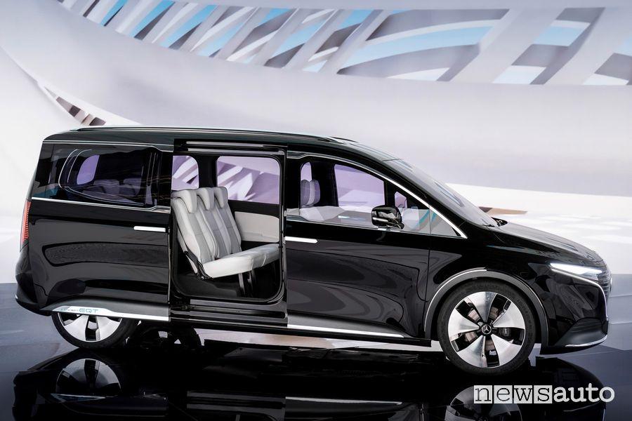 Porta laterale scorrevole Mercedes-EQ Concept EQT