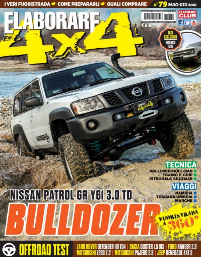 Il magazine ELABORARE 4×4 con l'articolo sul Ford Bronco