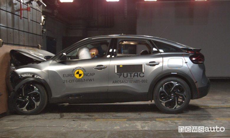 Euro NCAP Citroën C4, crash test a 4 stelle [video]