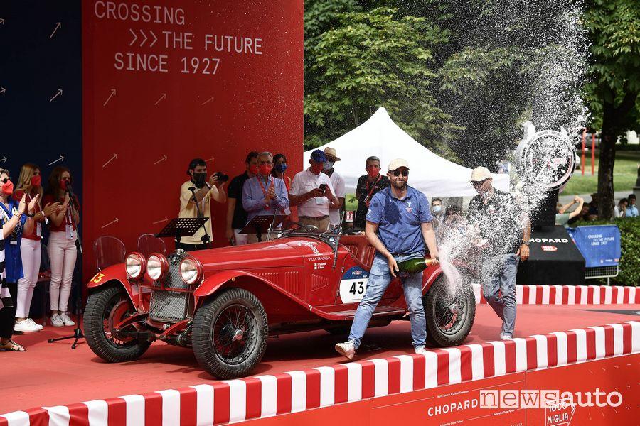 Vesco/Salvinelli vincitori Mille Miglia 2021 con l'Alfa Romeo 6C 1750 Super Sport 1929