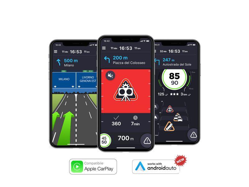 App COYOTE su Android Auto e Apple CarPlay