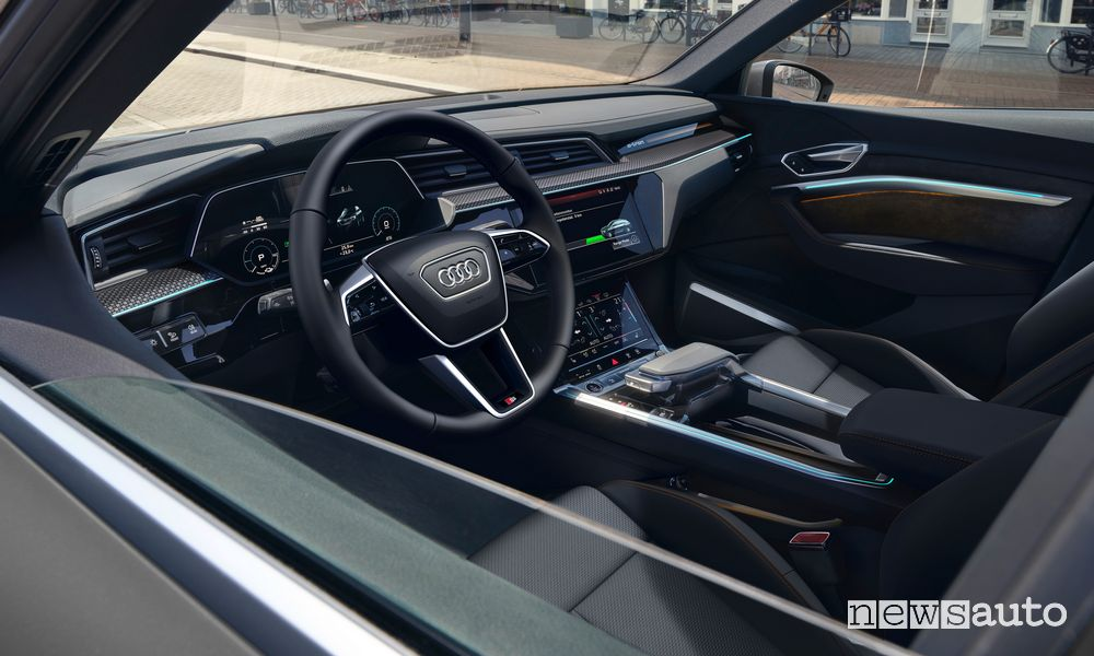 Abitacolo Audi e-tron Sportback S line black edition