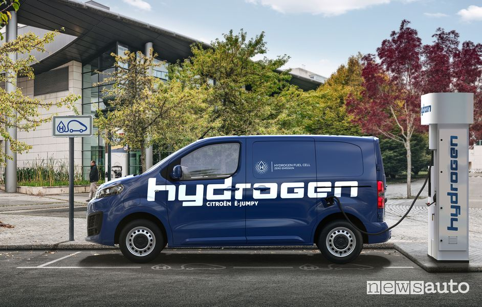 Citroen e-Jumpy Hydrogen furgone ad idrogeno