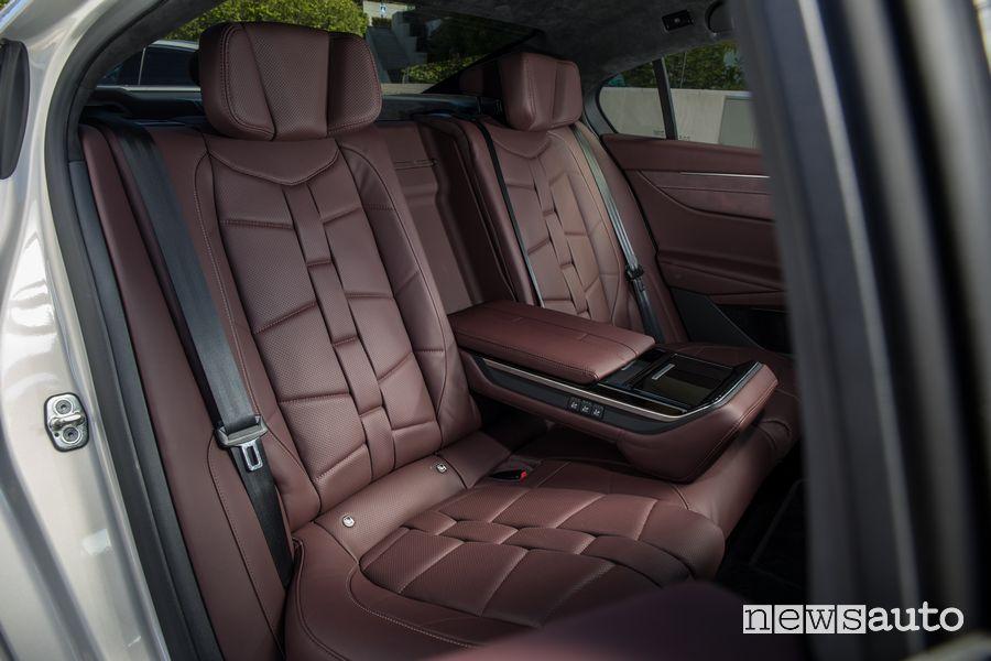 Sedili posteriori abitacolo nuova DS9 E-Tense PHEV