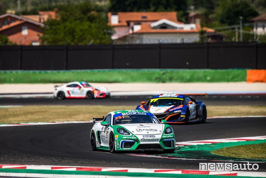 Di Giusto/Pera Porsche 718 Cayman GT4 ProAm Misano Campionato Italiano GT 2021