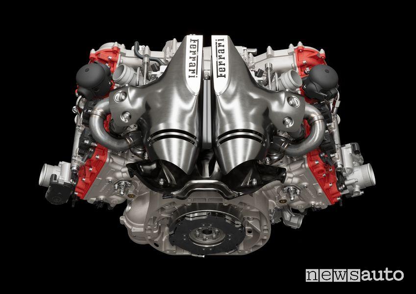 Motore V6 Ferrari 296 GTB ibrida plug-in