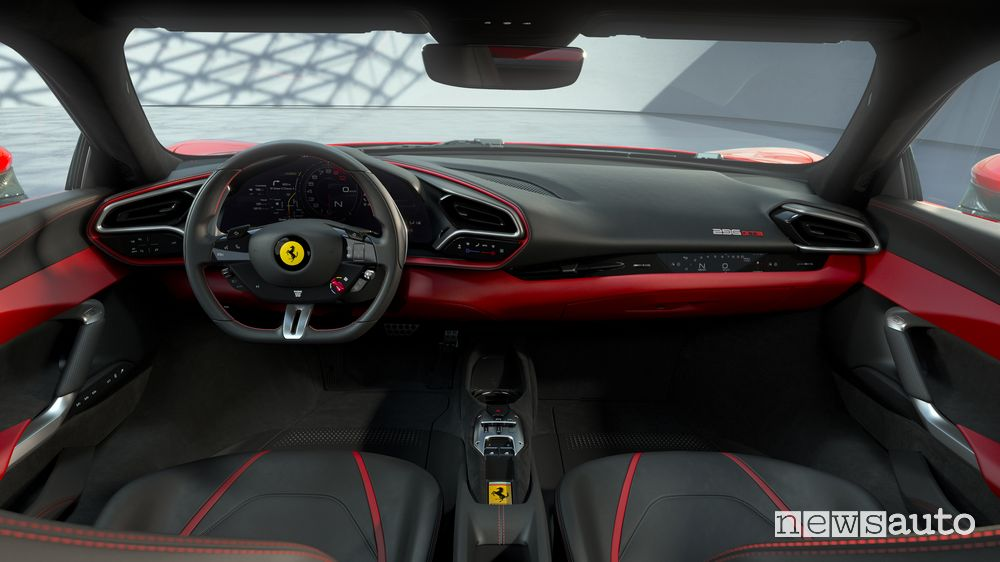 Plancia strumenti abitacolo Ferrari 296 GTB ibrida plug-in