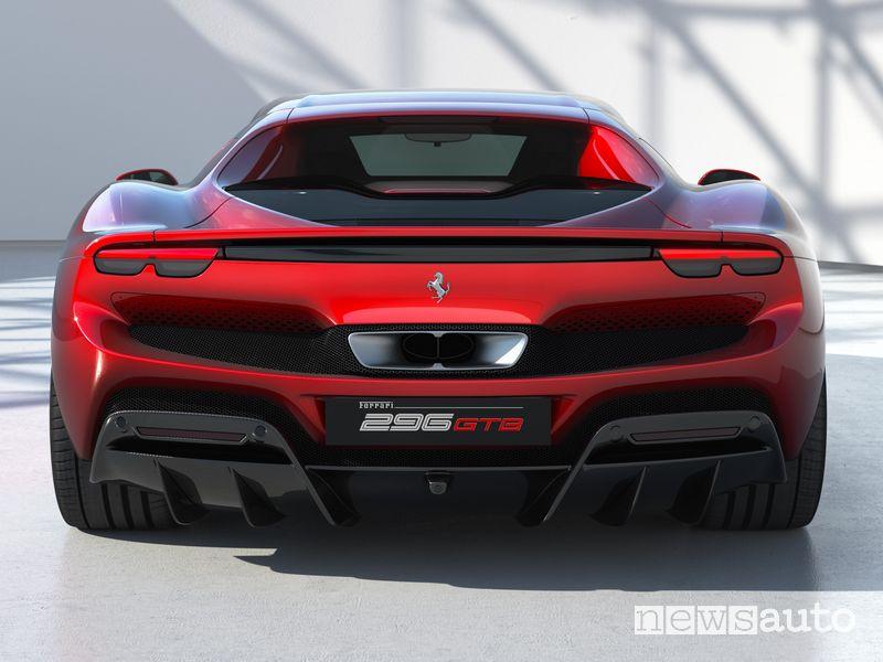 Posteriore Ferrari 296 GTB ibrida plug-in
