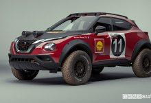 Vista di profilo Nissan Juke Rally Tribute Concept