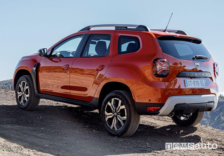 Vista posteriore nuovo Dacia Duster