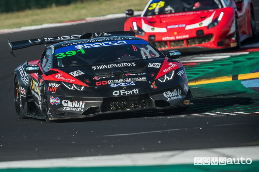 Pegoraro/Mugelli Lamborghini Huracan GT GT3 Misano Campionato Italiano GT 2021