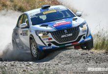Andrea Nucita e la Peugeot 208 Rally4 al Rally di San Marino 2021