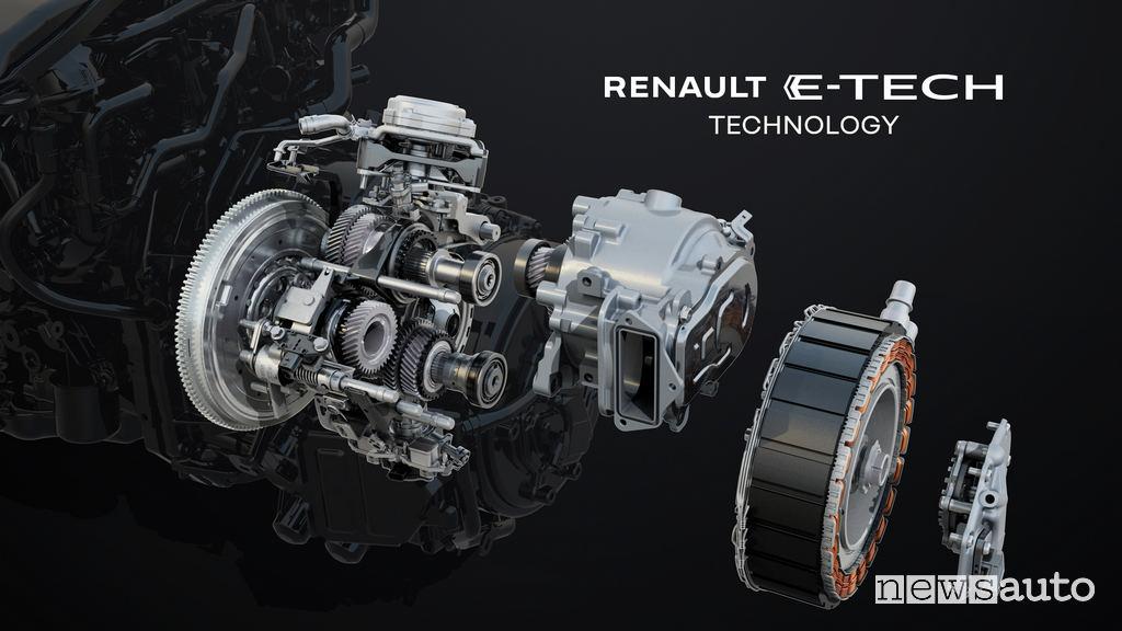 Motore elettrico e cambio automatico Multi-Mode Renault Arkana E-TECH